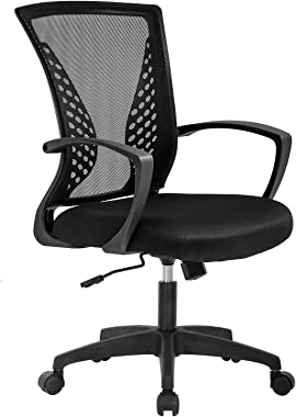 Vnewone Ergonomic Office Chair Desk Computer Mesh Executive Task Rolling Gaming Swivel Modern Adjustable with Mid Back Lumbar