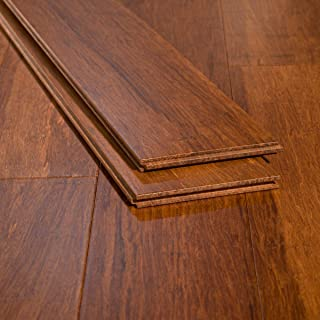 Ambient Bamboo - Bamboo Flooring Sample, Color: Carbonized Wide Plank, Solid Strand Tongue and Groove
