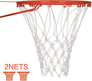 Suncity Fit Basketball Nets Replacement Heavy Duty Basketball Hoop Net Outdoor&Indoor 12 Loops 2 Pack Red/White/Three Color