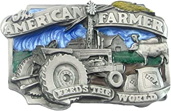 Pewter Belt Buckle - The American Farmer Feeds the World