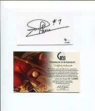 Joe Theismann Notre Dame Irish HOF Washington Redskins Signed Autograph COA - NFL Cut Signatures
