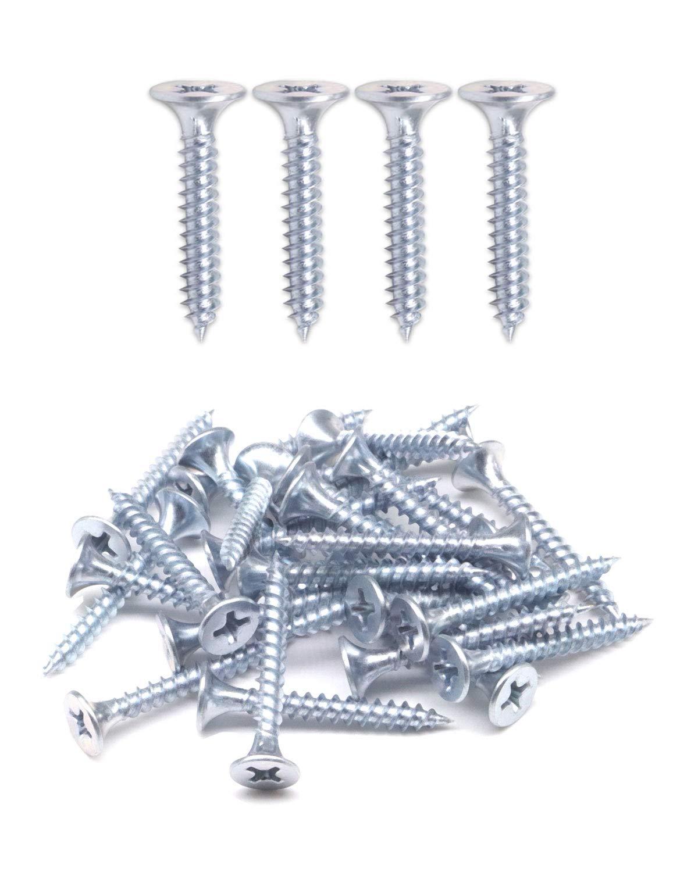 IMScrews 200pcs #6x5//8 Flat Head Phillips Drywall Screws Fine Thread Sharp Point Wood Screw Assortment Kit Carbon Steel 1022A Zinc Coated