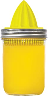 Jarware 82617 Juicer Lid for Wide Mouth Mason Jars, Yellow