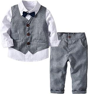 4 pezzi da festa 0-3 mesi a 12 anni per fare il paggetto Tuta da bambino in tweed per bambini; per matrimoni