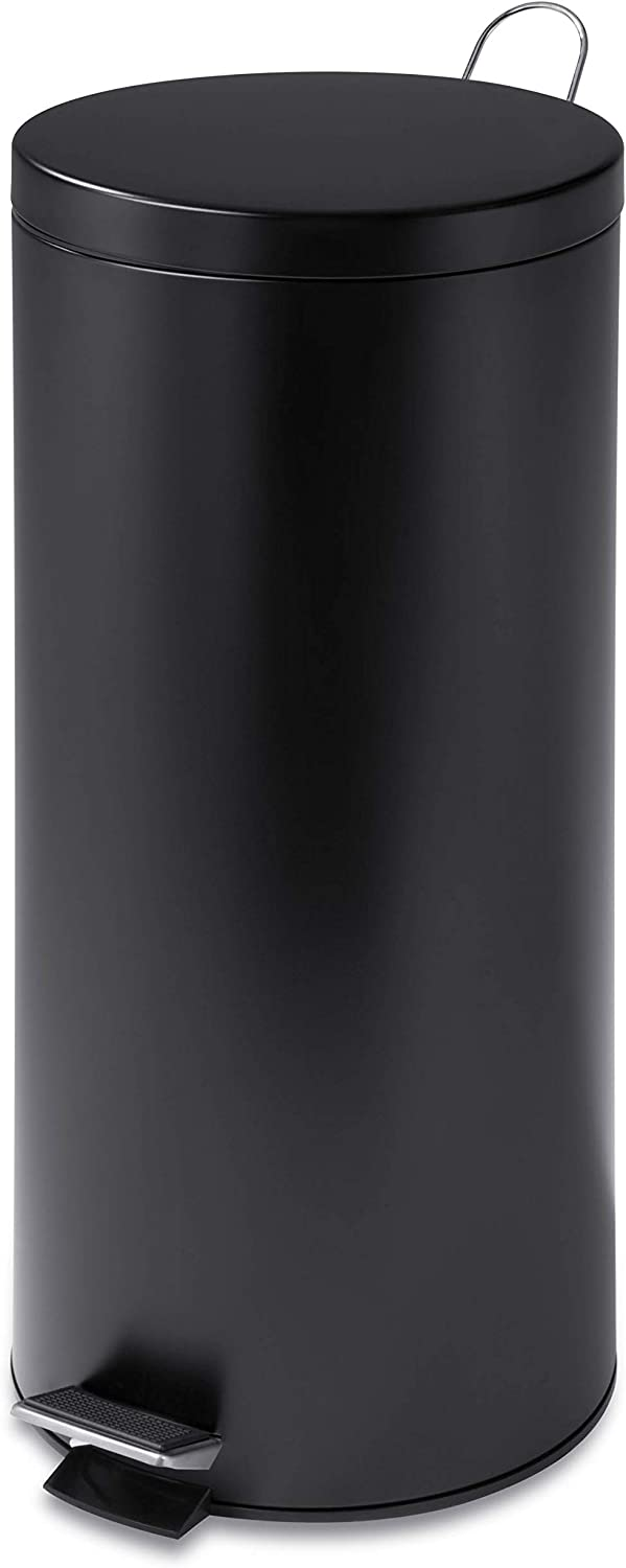 Max 77% OFF Honey-Can-Do Regular store TRS-02111 Round Stainless Steel with Can Trash Step