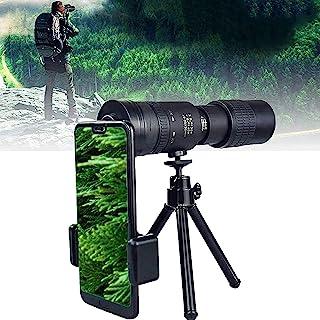 4k Monocular Telescope 10-300x40mm Zoom High Power HD Monocular with Smartphone Holder & Tripod Bak4 Prism for Hunting/cam...