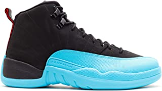 NIKE Mens Air Jordan 12 Retro Gamma Blue Leather Basketball Shoes
