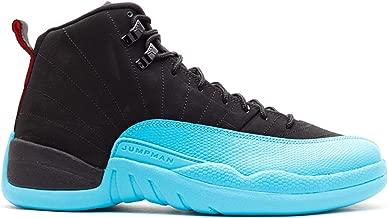 NIKE Mens Air Jordan 12 Retro Gamma Blue Leather Basketball Shoes