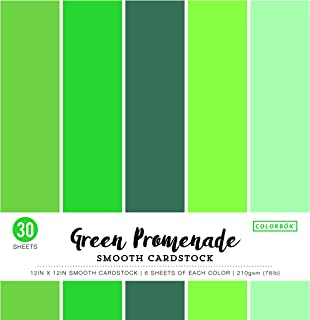 ColorBok 73477B Smooth Cardstock Paper Pad Green Promenade, 12