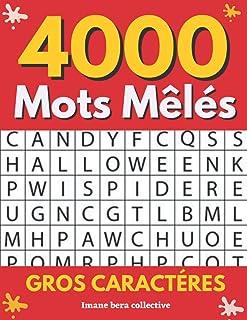 4000 Mots mélés gros caractères: Mots Cachés grilles pour adultes plusieurs thémes   1 Puzzle par page   Gros caractères p...