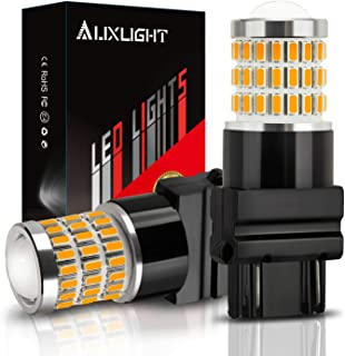 AUXLIGHT 3157 3156 3057 4157 3157K LED Bulbs Amber Yellow, Ultra Bright 57-SMD LED Replacement for Blinker Lights, Turn Signal/Parking or Running Lights, Brake/Tail Lights (Pack of 2)