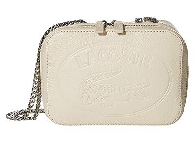 Lacoste Croco Crew Crossover Bag (Fog) Cross Body Handbags