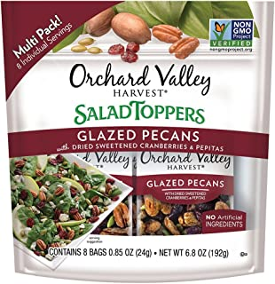 ORCHARD VALLEY HARVEST Salad Toppers, Glazed Pecans, 6.8 Ounce (Pack of 1)