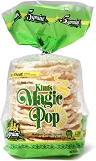Kim's Magic Pop 5 Grain, Made from Gluten Free Ingredients, 18-Packs: Freshly Popped Rice Cakes, Healthy Grain Snack, 0 Weight Watchers Point