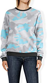 Rainbow Rules Colored Camouflage Pastel Blue - 2XL - Womens Sweatshirt