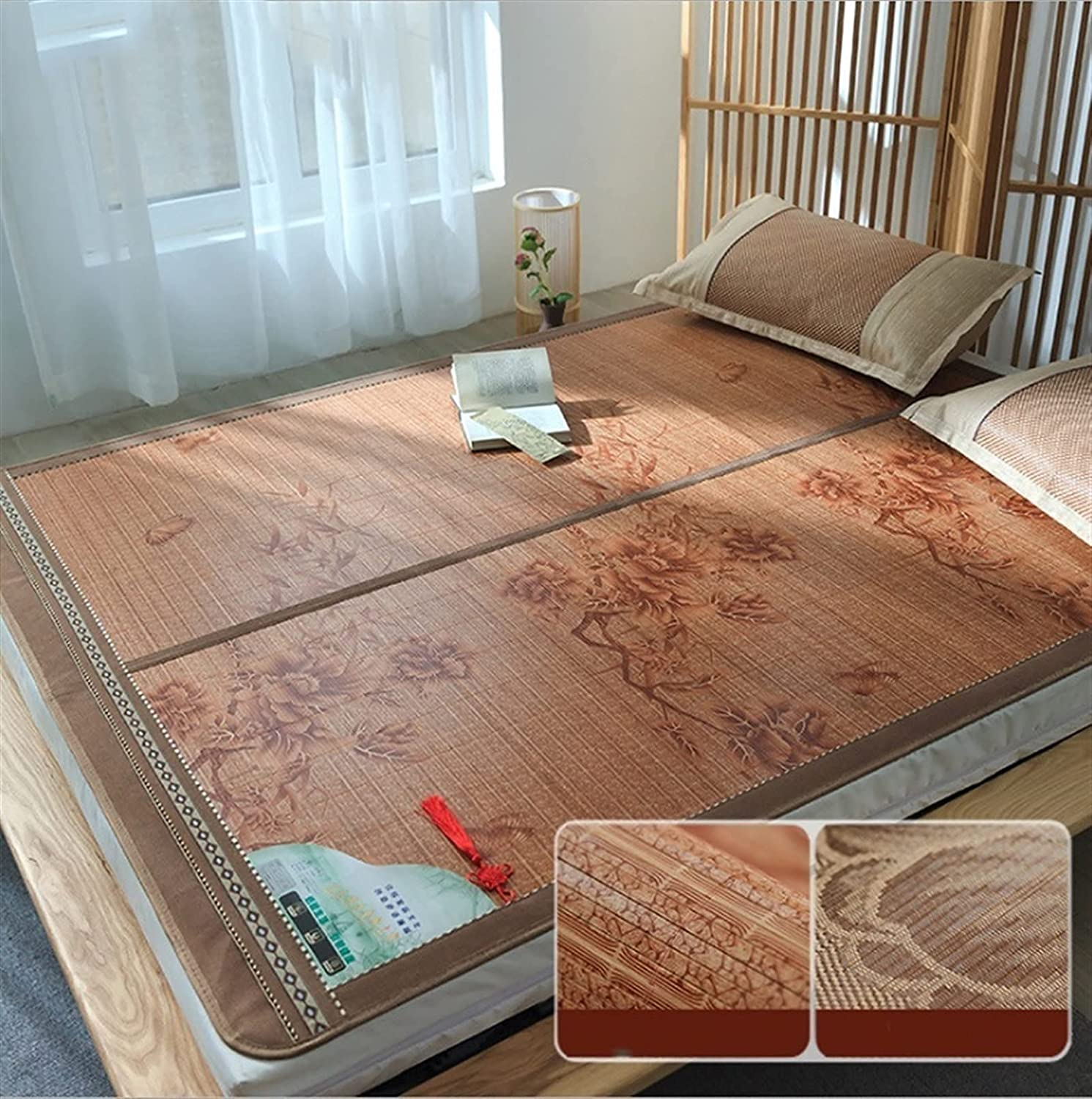 Very popular YAYONG Summer Bamboo Mat Foldable Air-Conditioning H Bedroom Department store