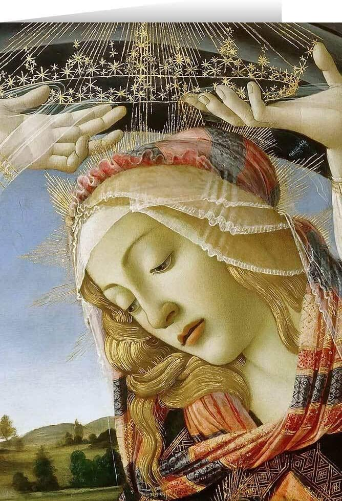 Hail Mary Gifts Madonna of Magnificat The Detail Card online shop Al sold out. Greeting
