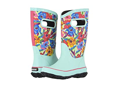Bogs Kids Rain Boots Water Pansies (Toddler/Little Kid/Big Kid) (Turquoise Multi) Girls Shoes