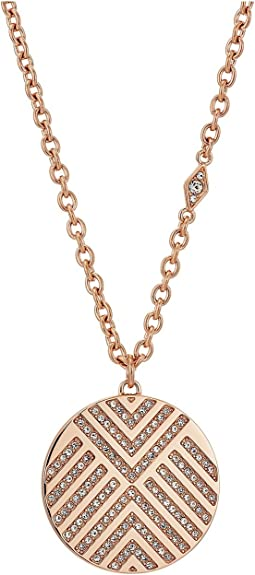Fossil Chevron Signature Glitz Pendant Necklace