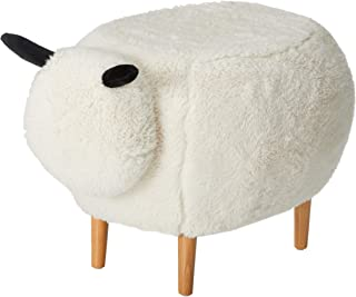Christopher Knight Home Pearcy Furry Sheep Ottoman, White