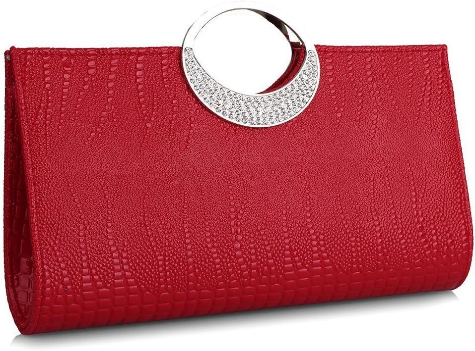 Womens Luxury Evening Purse Rhinestone Clutch In stock 1 year warranty Leather Ba