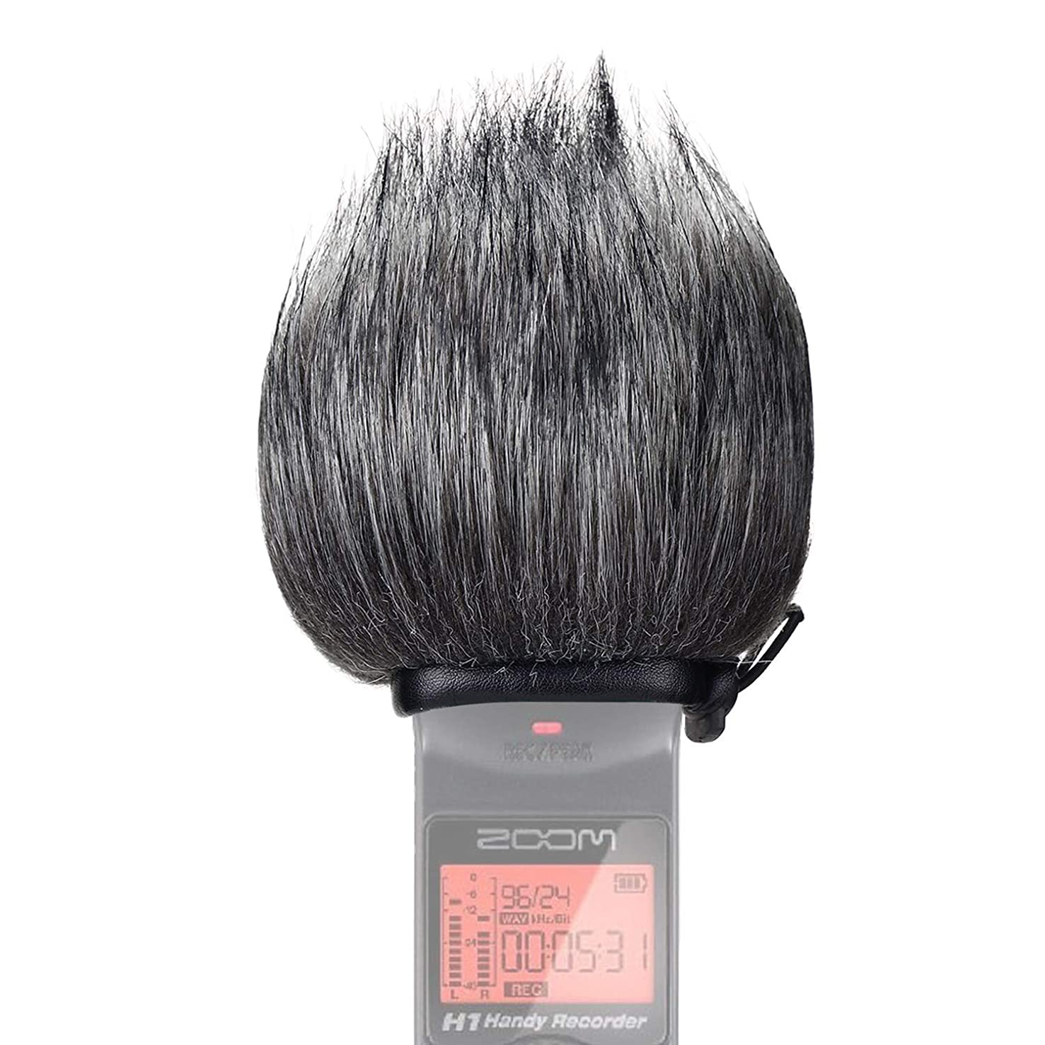 SUNMON Furry Windscreen Muff for Zoom H1n & H1 Handy Portable Digital Recorder, Deadcat Fur Pop Filter Windshield
