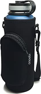 Onoola 40oz Pocket Carrier for Hydro Flask Type Bottles with Adjustable Straps (Neoprene Sleeve/Pouch)