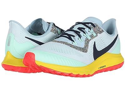 Nike Air Zoom Pegasus 36 Trail (Aura/Blackened Blue/Light Armory Blue) Men