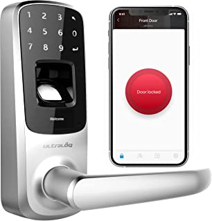 ULTRALOQ UL3 BT Smart Lock (Aged Bronze), 5-in-1 Keyless Entry Door Lock with Bluetooth, Biometric Fingerprint and Touch D...