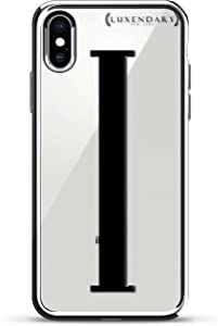 BLACK INITIAL I3 | Luxendary Chrome Series designer case for iPhone X in Silver trim