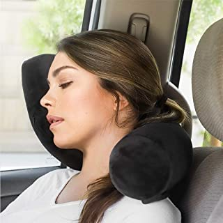 Xcellent Global Twist Memory Foam Pillow Travel Neck Pillow Flexible Neck Rest Twistable & Bendable Roll Pillow for Neck, ...