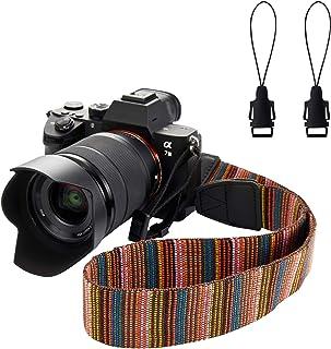 CAMBER Camera Soft Shoulder Neck Strap with Free Quick Release Buckles Universal Camcorder Belt Strap Vintage Antislip Str...