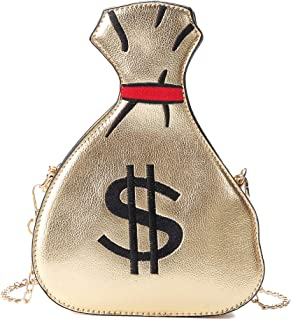 Damen Crossbodybag Dollar Zeichen börse Schultertasche Handtasche Messenger Bag