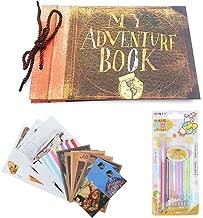Pulaisen Scrapbook Album Pixar Up Movie Adventure Book Handmade DIY Family Scrapbooking Album with Embossed Letter Cover Retro Photo Album