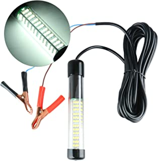 Amarine Made 12v 180 LED 900 Lumens Lure Bait Finder Night Fishing Boat Submersible Deep Drop Underwater Light (White)
