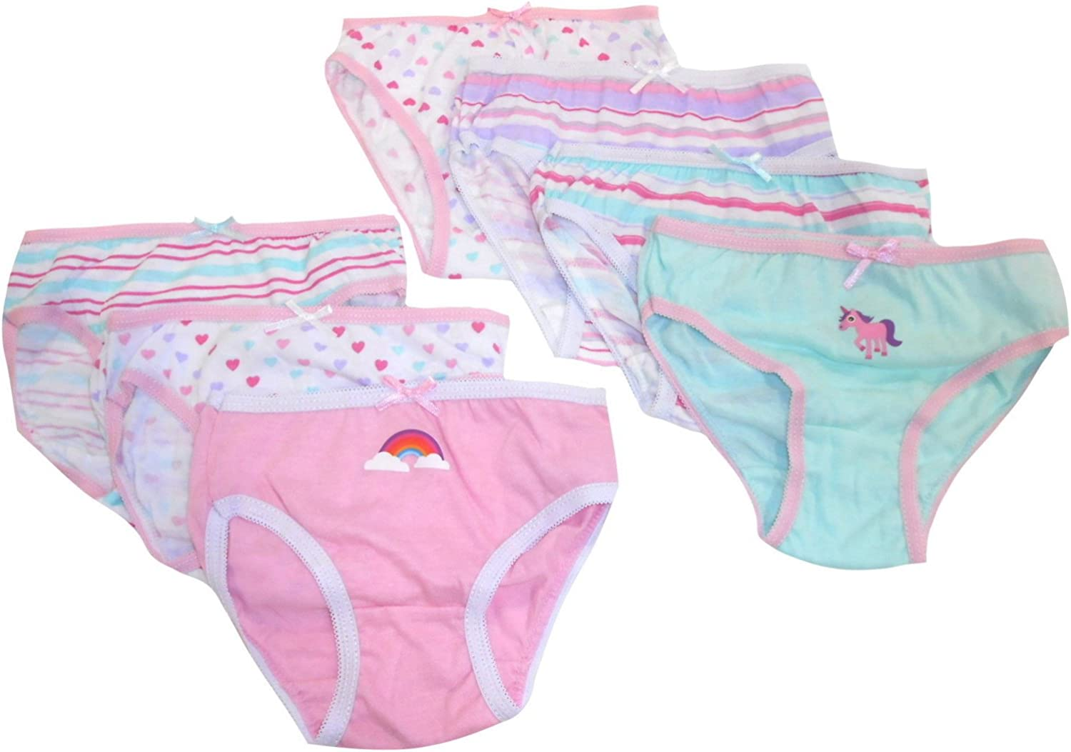 Thingimijigs Girls Patterned 7 Pack Cotton Knickers Briefs