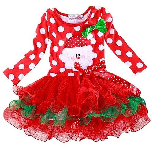 bf7fb56b3ed8 Transer Girls Christmas Dress, 0-5 Years Baby Girls Princess Dress Infants Christmas  Outfits