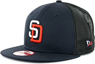 New Era 950 San Diego Padres Tony Gwynn 4 Trucker Snapback Hat Navy Mens MLB Cap