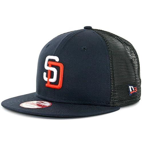 new concept 985ca a4f17 New Era 950 San Diego Padres Tony Gwynn 4 Trucker Snapback Hat Navy Mens MLB  Cap