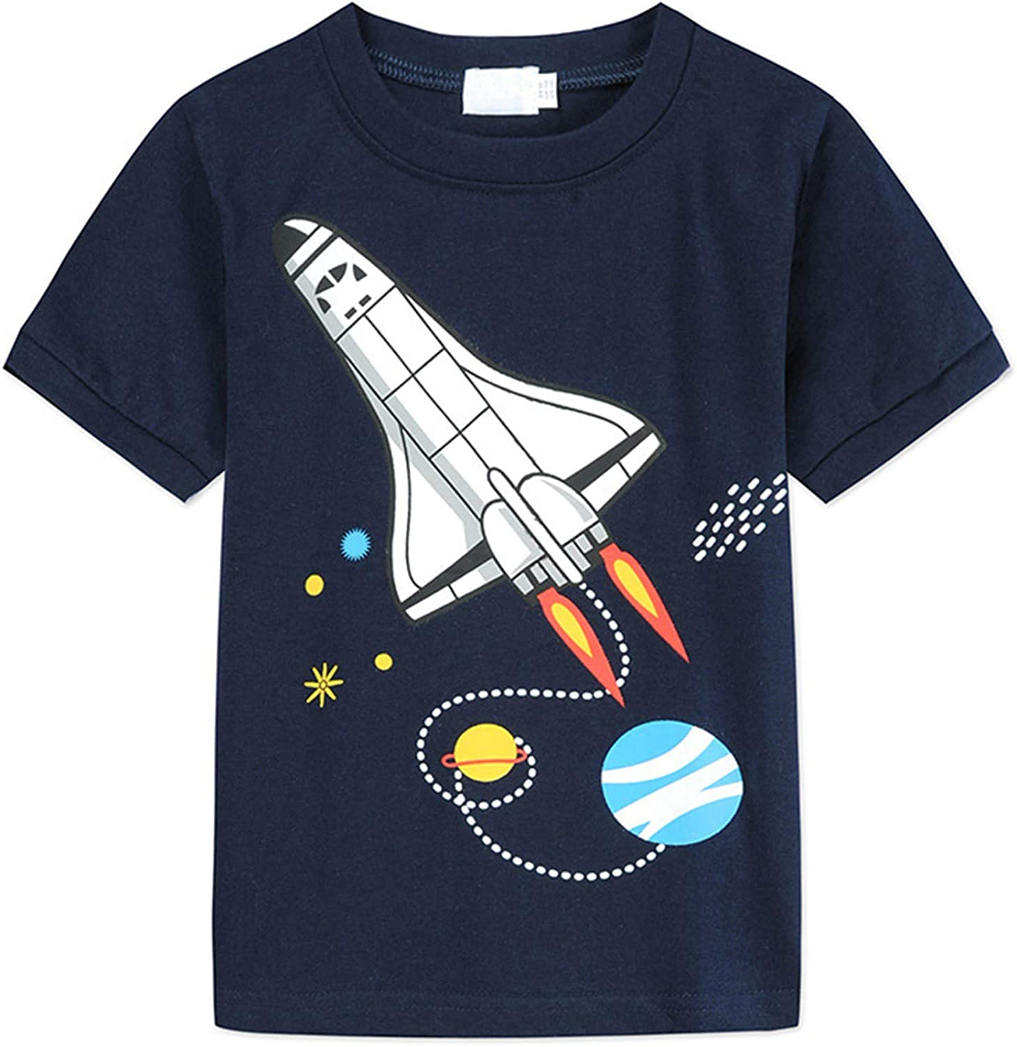 Little Story High quality new Baby Outfits Clothes Girls Boys Rocket Prin Houston Mall Cartoon