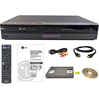 LG VHS to DVD Recorder VCR Combo w/ Remote, HDMI (Renewed)