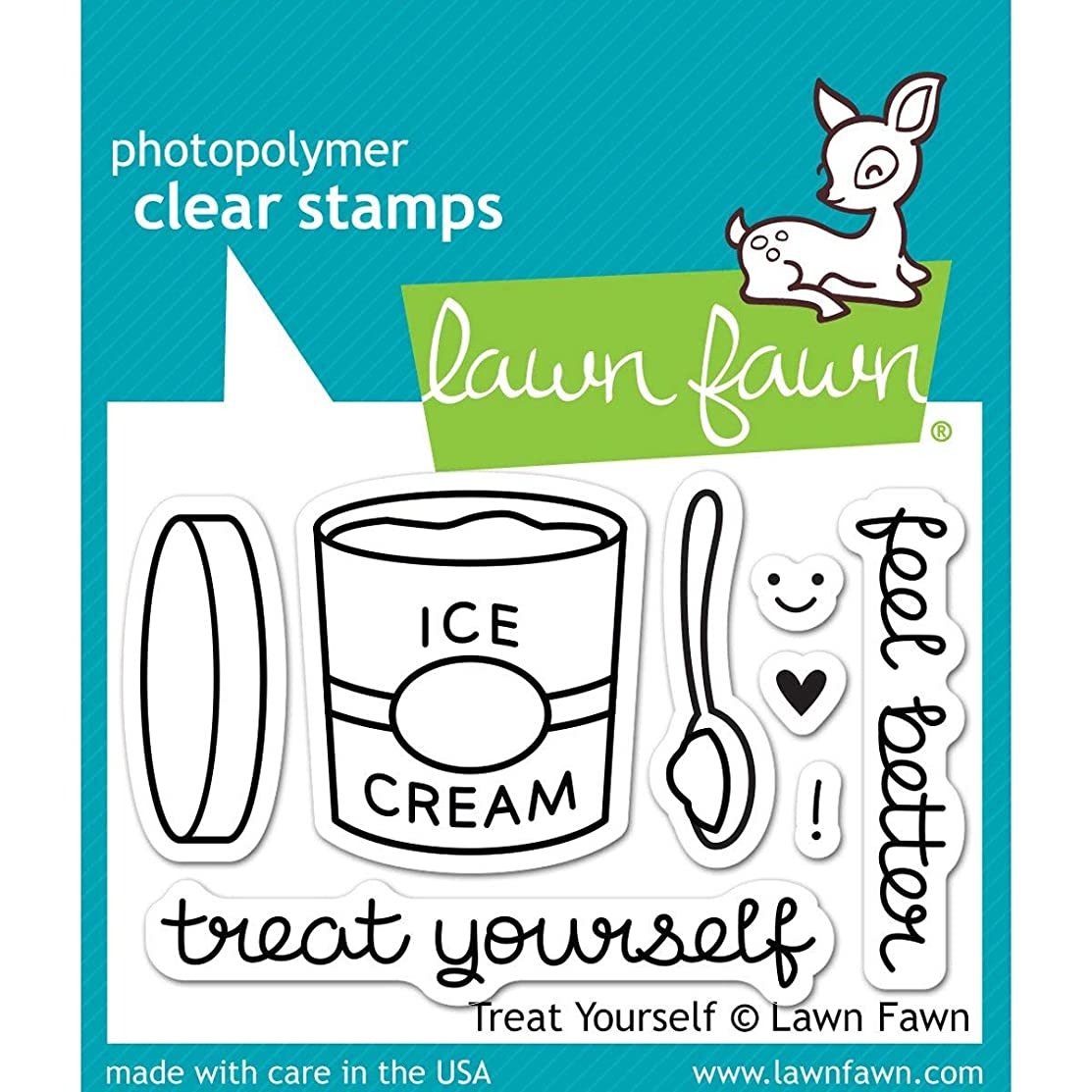 Lawn Fawn Clear Stamps - LF897 Treat Yourself