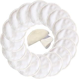 16 پاکت پاک کننده بامبو قابل استفاده مجدد با استفاده از کیسه شستشو - 2 لایه 3.15 اینچ پاکت های آستر پنبه ای آلی، پاک کننده های آرایشی قابل شستشو صورت پاک کردن پاک کردن صورت (بمبو شیمیایی بدون پارچه ای)