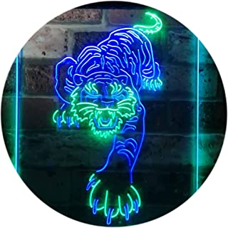 Tigers Man Cave Sport Dual Color LED Neon Sign Green & Blue 210 x 300mm st6s23-i3195-gb