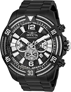 Invicta Men's Bolt Quartz Watch with Stainless Steel Strap, Black, 26 (Model: 27270)