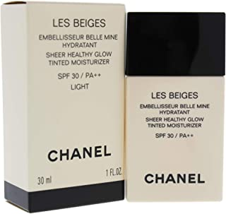 Chanel Les Beiges Sheer Healthy Glow Tinted Moisturizing SPF 30 - Light for Women - 1 oz Makeup, 30 Milliliter
