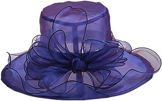 DJB Women Organza Kentucky Derby Fascinator BridalTea Party Wedding HatFlowerHat