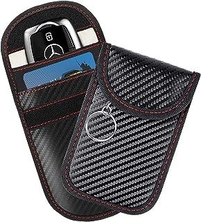 Faraday Bag for Key Fob (2 Pack), Signal Blocking Car Key Fob Case, RFID Key Fob Protector, Anti-Theft Blocking Cage for K...