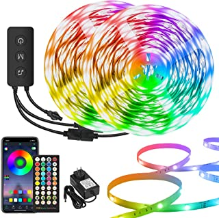 LED Light Strip 100ft, Smart Light Strips with app Control Remote, Music Sync Color Changing RGB Strip Lights, Ultra-Long ...