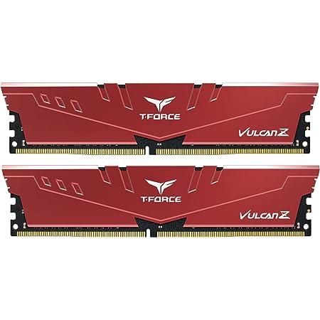 Team DDR4 2666Mhz(PC4-21300) 8GBx2枚(16GBkit) デスクトップ用メモリ ハイスピードタイプ Vulcan Zシリーズ 日本国内無期限保証